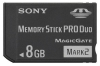 флеш-карта Sony MSMT8GN Memory Stick 8GB PRO DUO Mark2